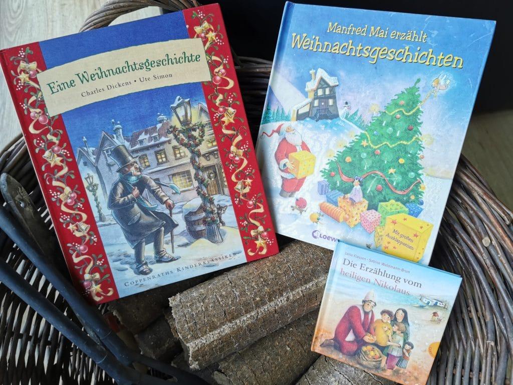 Die Bücher Eine Weihnachtsgeschichte von Charles Dickens, Manfred Mai erzählt Weihnachtsgeschichten, das Buch Die Erzählung vom heiligen Nikolaus