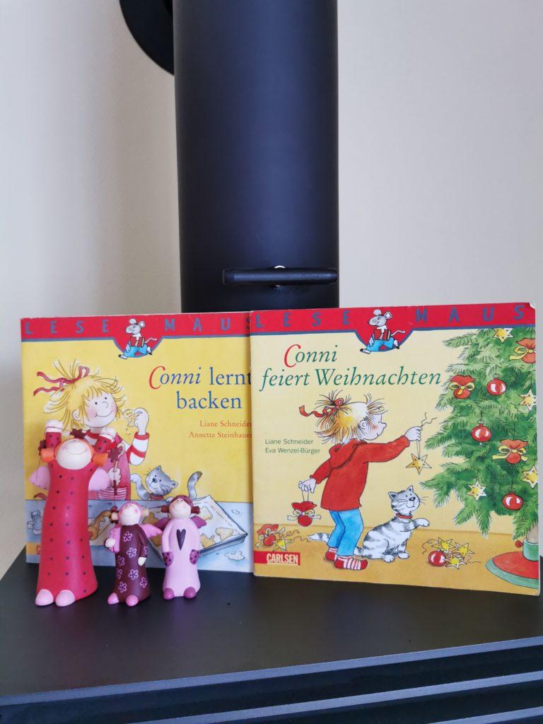 Die Cover von Conni lernt backen und Conni feiert Weihnachten