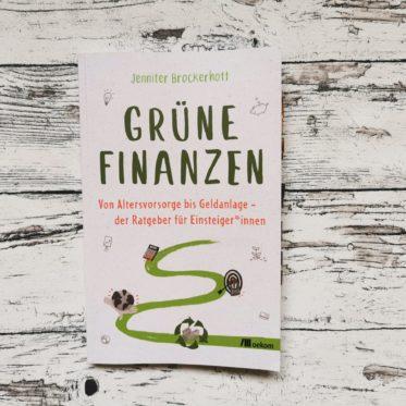 """Buchcover """"Grüne Finanzen"""" von Jennifer Brockerhoff"""